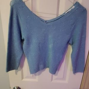 Vintage micro suede crop sweater